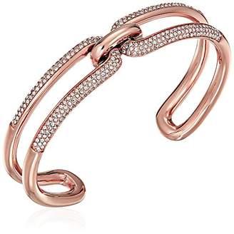 Michael Kors Brilliance Iconic Links Tone Open Cuff Bracelet