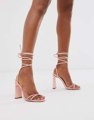 Public Desire Flirt ankle tie heeled sandals