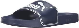 Puma Men's Leadcat Slide Sandal, Peacoat-White, 9 M US
