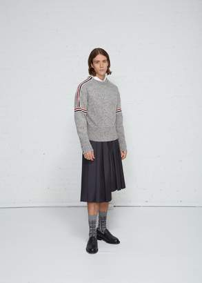 Thom Browne Intarsia Stripe Crew Neck Sweater