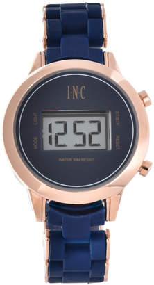 INC International Concepts I.N.C. Women's Digital Boyfriend Rose Gold-Tone & Silicone Bracelet Watch 36mm, Created for Macy's