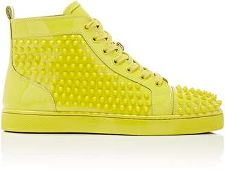 Christian Louboutin Men's Louis Flat Patent Leather Sneakers