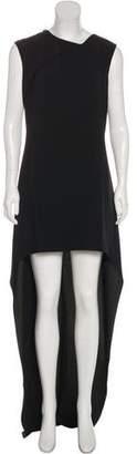 Saint Laurent Crepe High-Low Gown