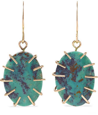 Melissa Joy Manning 14-karat Gold Turquoise Earrings - one size