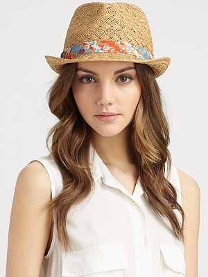 Interlock Trilby Straw Hat