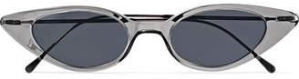 Illesteva Marianne Cat-eye Acetate And Gunmetal-tone Sunglasses - Gray