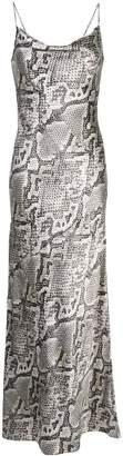 L'Agence snake print slip dress