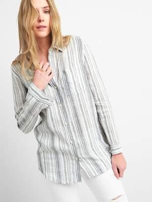 Gap Oversize Boyfriend Shirt in Linen