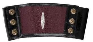 Elise Overland patent Leather Wide Waist Belt