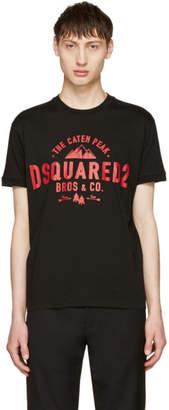 DSQUARED2 Black Chic Dan The Caten Peak T-Shirt