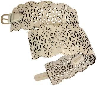 Oscar de la Renta Patent leather belt