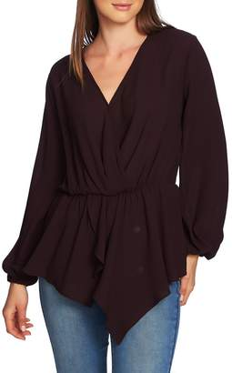 1 STATE 1.STATE Cross Front Peplum Blouse