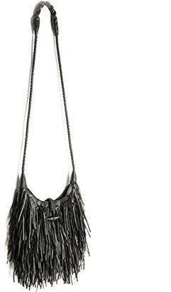 Women's Fashion Fringed Shoulder Bag,WALLYN'S Tassel Faux Suede Leather Messenger Bag Hobo Cross Body Handbag
