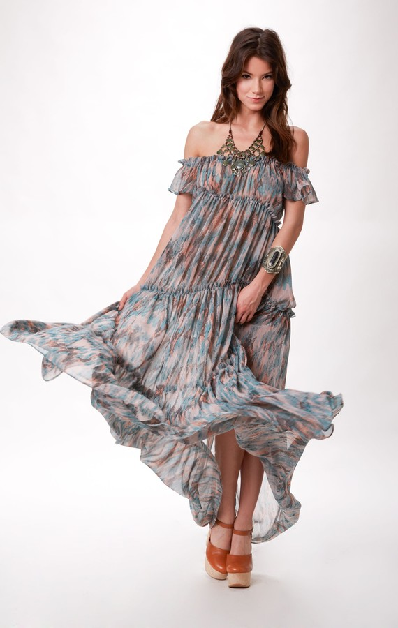 Ale By Alessandra DESERT DREAMS TIERED MAXI DRESS