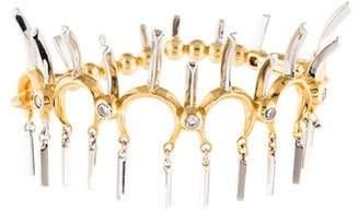 Eddie Borgo Two-Tone Crystal Spike Cuff Bracelet
