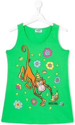 Moschino Kids monkey tank top