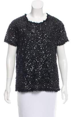 Gryphon Sequined Short Sleeve Top