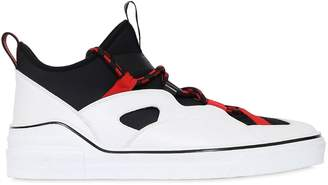 Givenchy George V Neoprene & Leather Sneakers