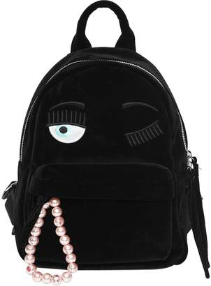 Chiara Ferragni Flirting Eye Velvet Backpack