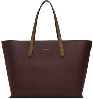 Givenchy Burgundy GV Shopper Tote