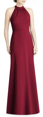 Jenny Yoo JY Crepe Halter Gown