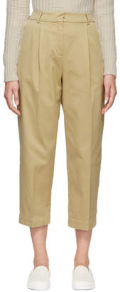 YMC Beige Cotton Market Trousers