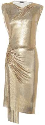 Paco Rabanne Draped mesh dress