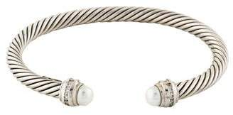 David Yurman Pearl & Diamond Cable Classics Bracelet