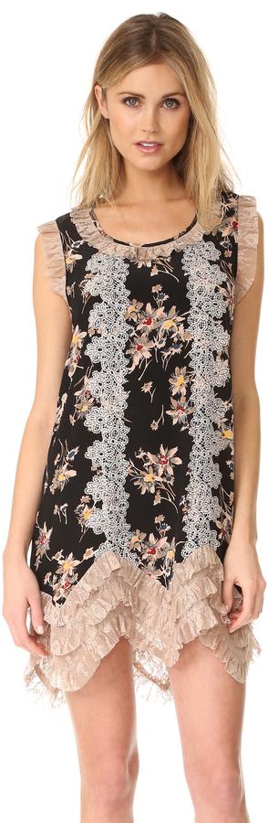 Anna SuiAnna Sui Wildflower Print Dress
