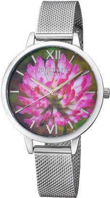 Johan Eric 38mm Rodklover Flower Watch w/ Mesh Strap, Silvertone
