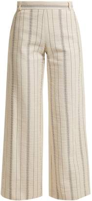See by Chloe High-rise striped cotton-blend trousers