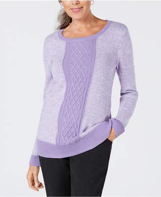 Karen Scott Colorblocked Sweater
