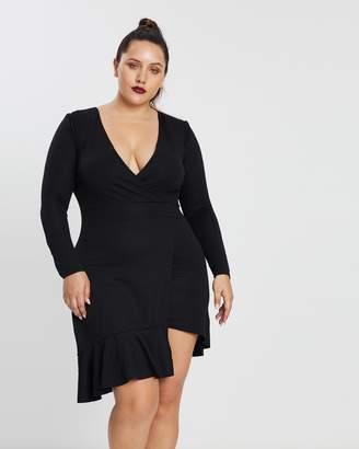Frill Hem LS Mini Dress