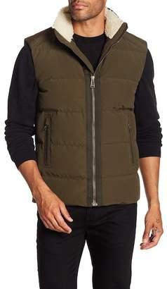 Belstaff Fyfield Faux Shearling Collar Vest