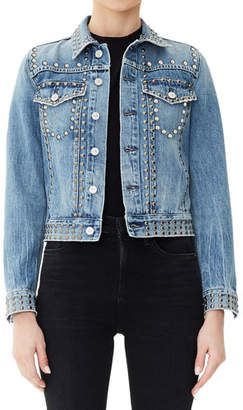 Citizens of Humanity Cleo Studded Cropped Denim Jacket