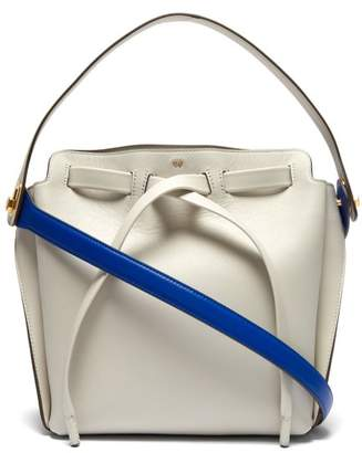 Anya Hindmarch Shoelace Leather Shoulder Bag - Womens - Grey Multi