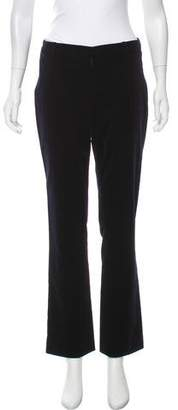 Ralph Lauren Black Label Velvet Mid-Rise Pants