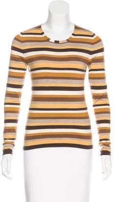 Akris Striped Long Sleeve Top