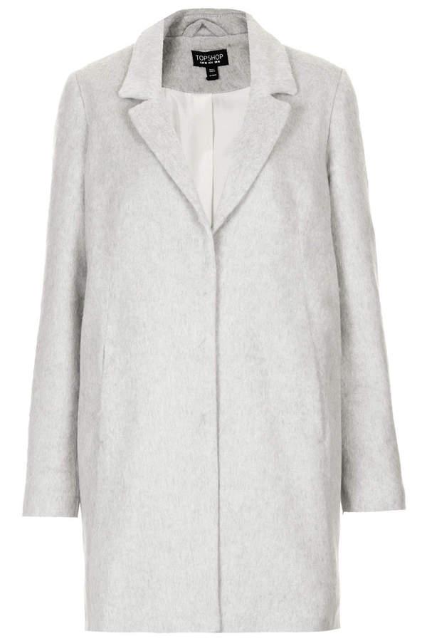 Topshop Fluffy swing coat