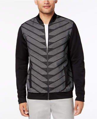 Alfani Men's Patterned Bomber Jacket, Created for Macy's