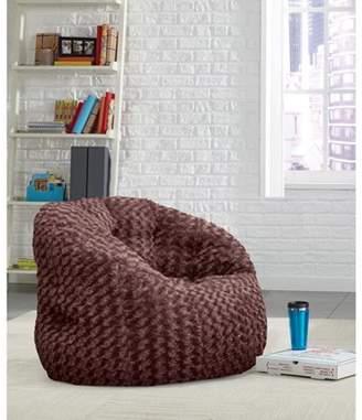 Cocoon Rosette Faux Fur Bean Bag Chair, Multiple Colors