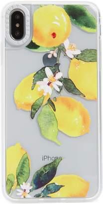 clear CASETIFY Watercolor Lemon Grip iPhone X/Xs, XR & X Max Case