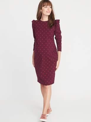 Old Navy Maternity Ruffle-Shoulder Bodycon Dress
