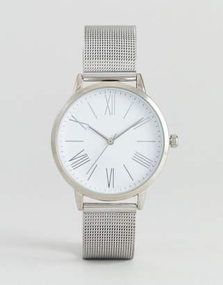 Asos Minimal Silver Mesh Watch