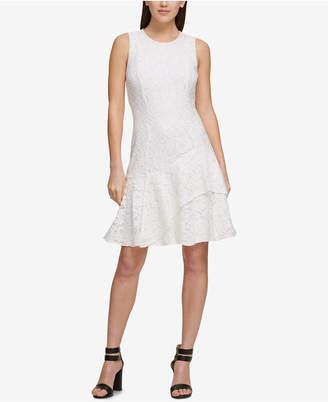 DKNY Asymmetrical Lace Midi Dress, Created for Macy's