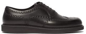 Bottega Veneta Black Leather Brogues - Mens - Black