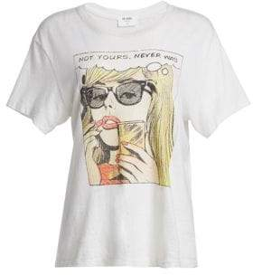RE/DONE Not Yours Never Was Graphic Girlfriend Tee
