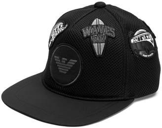 Emporio Armani logo patches hat