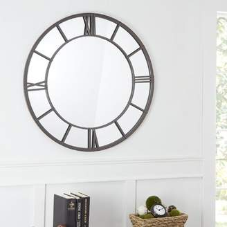 Winston Porter Mile Clock Face Frame Accent Mirror