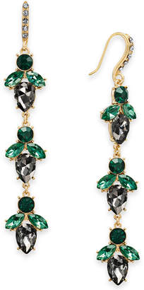 INC International Concepts I.N.C. Gold-Tone Crystal Cluster Linear Drop Earrings, Created for Macy's